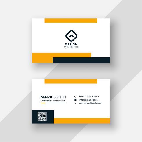 platt gul och vitt visitkortdesign