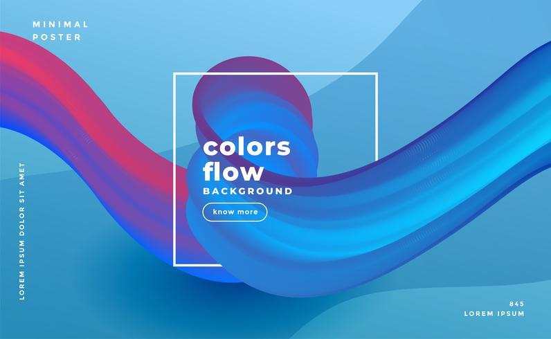 abstrakte Farben fließen Welle Zusammensetzung Hintergrund