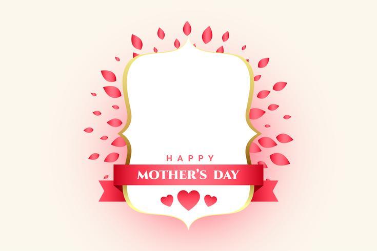 mors dag dekorativa etikett med text utrymme
