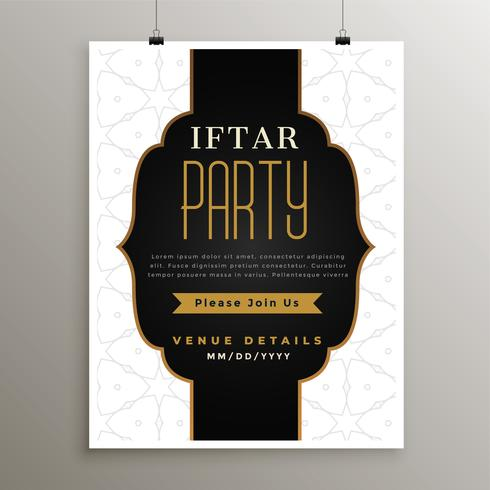 ramadan kareem iftar party kort design