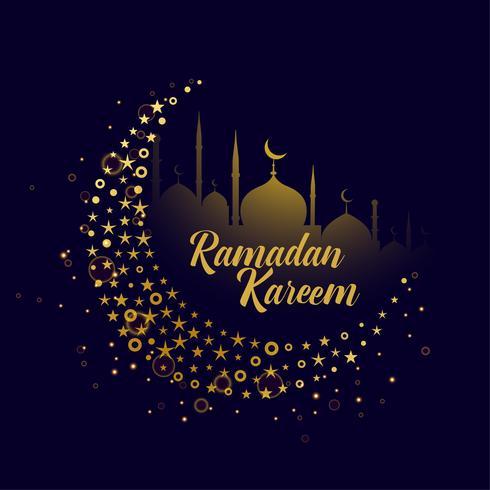 dekorativer Monddesign Ramadan Kareem-Hintergrund