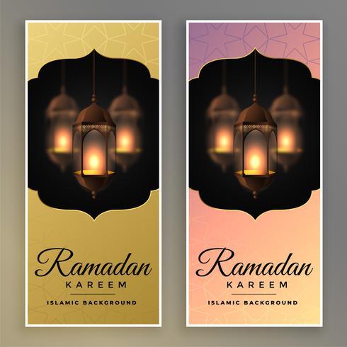 impresionante conjunto de la bandera de Ramadán Kareem