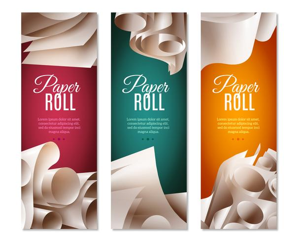 3d Paper Rolls Banners