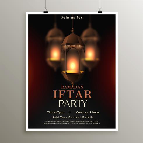 ramadan kareem iftar fest firandet kort design