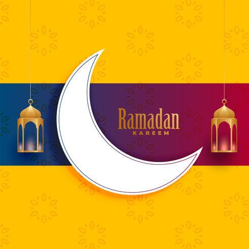 Ramadan Kareem saludo diseño de tarjeta de decoración