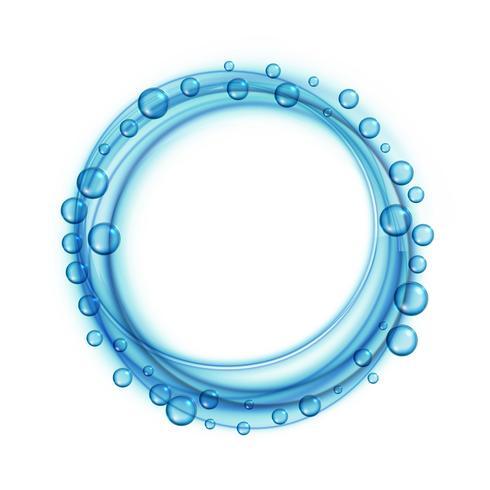 Fondo de marco azul de burbujas de agua de jabón