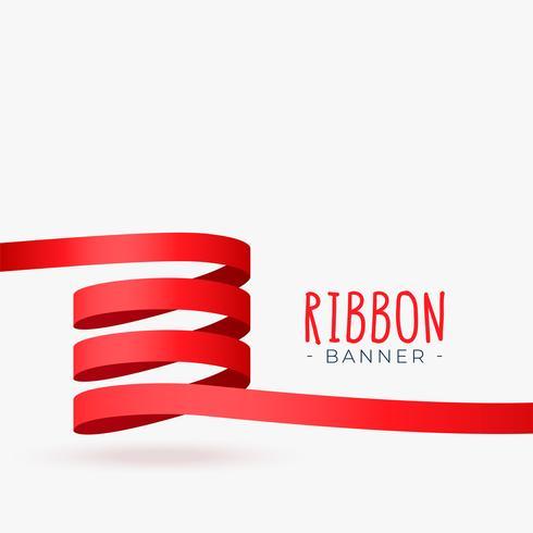 röd bandbandsling banner design