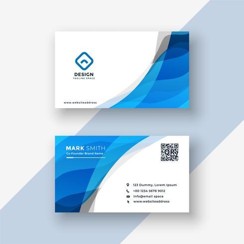 design de cartão moderno azul abstrato