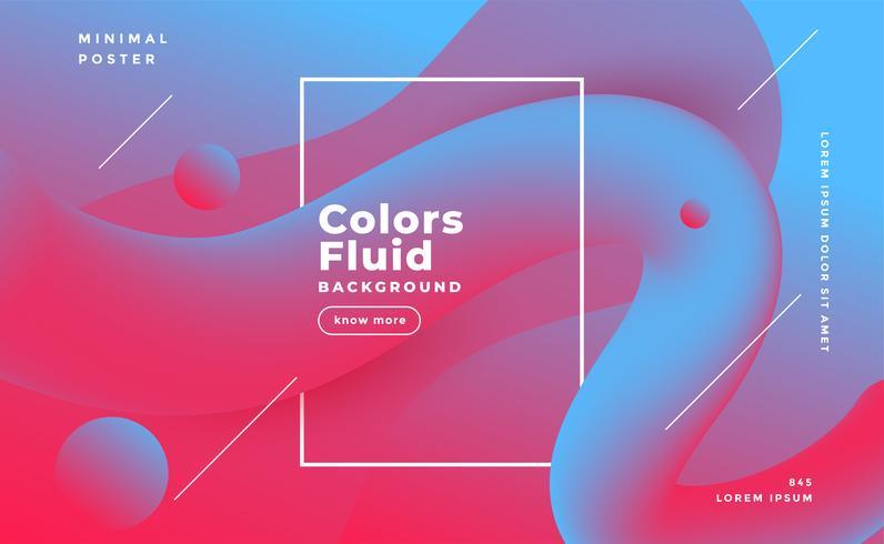 sfondo di forma fluida astratta in due tonalità