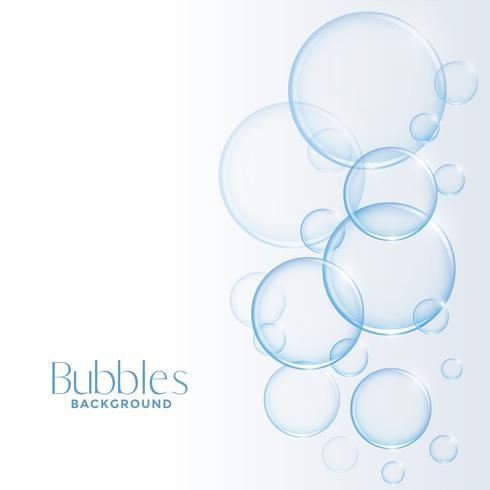 realistische glanzende water of zeepbellenachtergrond