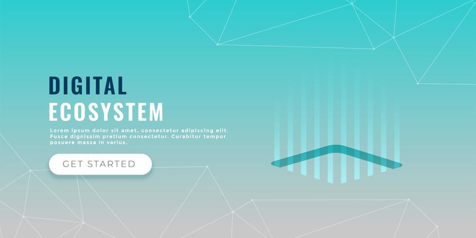 databehandling koncept banner design