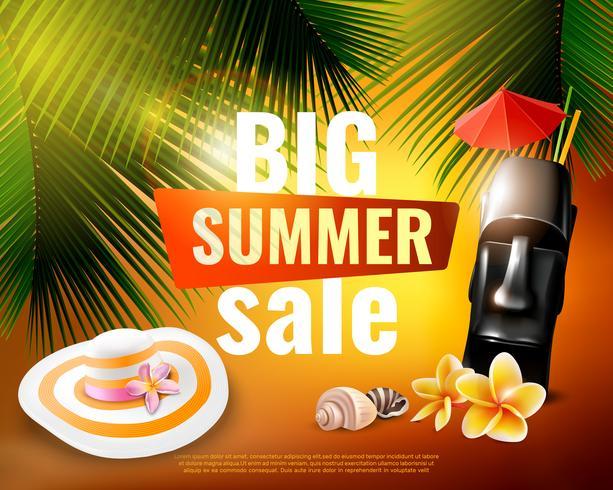 Hawaiian sommarförsäljningsaffisch