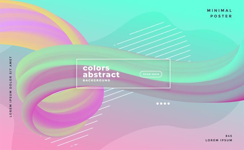 pastellfärger abstrakt våg flytande affisch