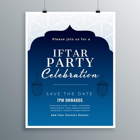 iftar fest firande kort design