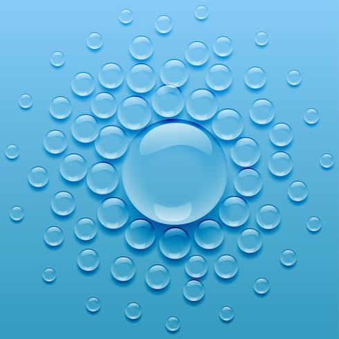 vattendroppar på blå bakgrund