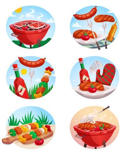 Grill Grill Stickies Set