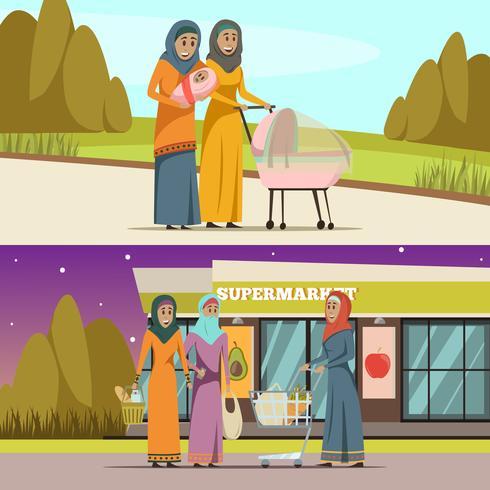 Arabiska Kvinna Banderoller Set