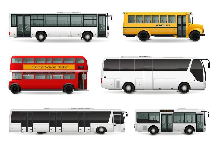 buss realistiska uppsättning