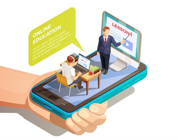 Concetto isometrico di apprendimento online