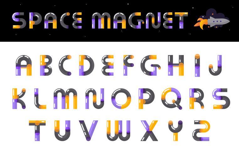 Alphabet Creative Font Letters Set vector