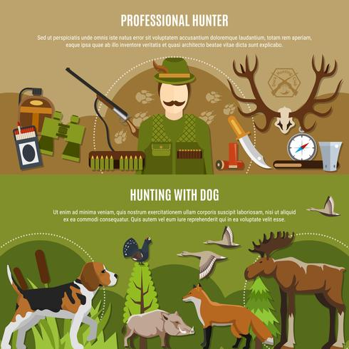 Professionelle Hunter Banner Set