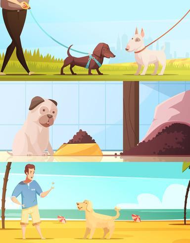 Conjunto de Banners de cão