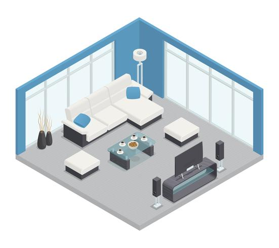 Dining Room Isometric Composition