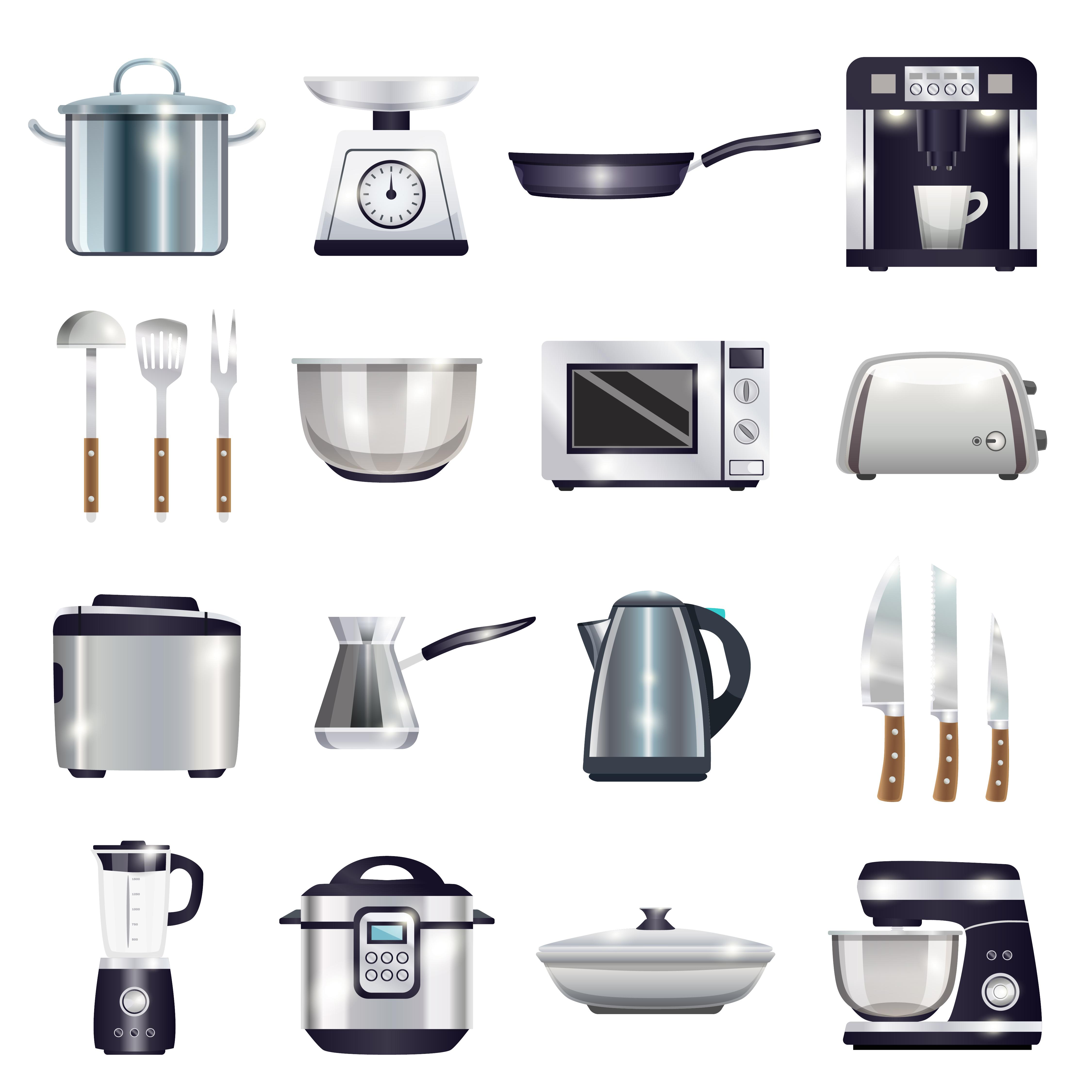 Kitchen Accessories Set - Download Free Vectors, Clipart ...