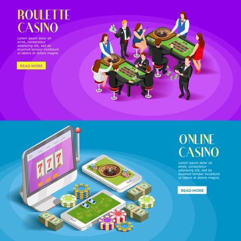 casino isometriska banners set
