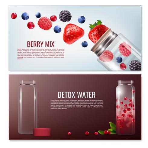 Detox Beverages Horizontal Banners