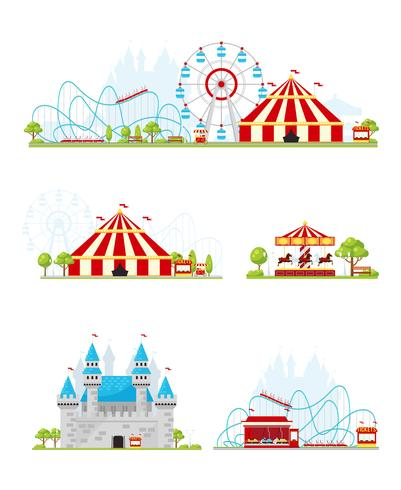 nöjespark banner set