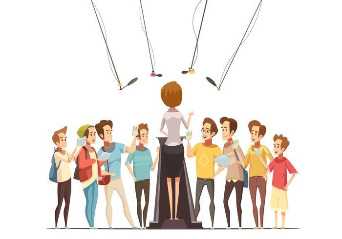 Illustration de dessin animé rétro pour adolescents