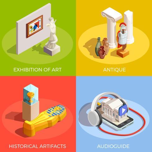 Concepto de diseño de museo antiguo