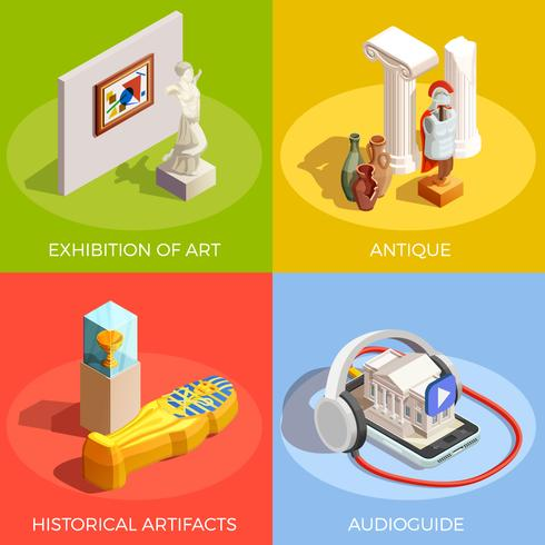 antiek museum ontwerpconcept
