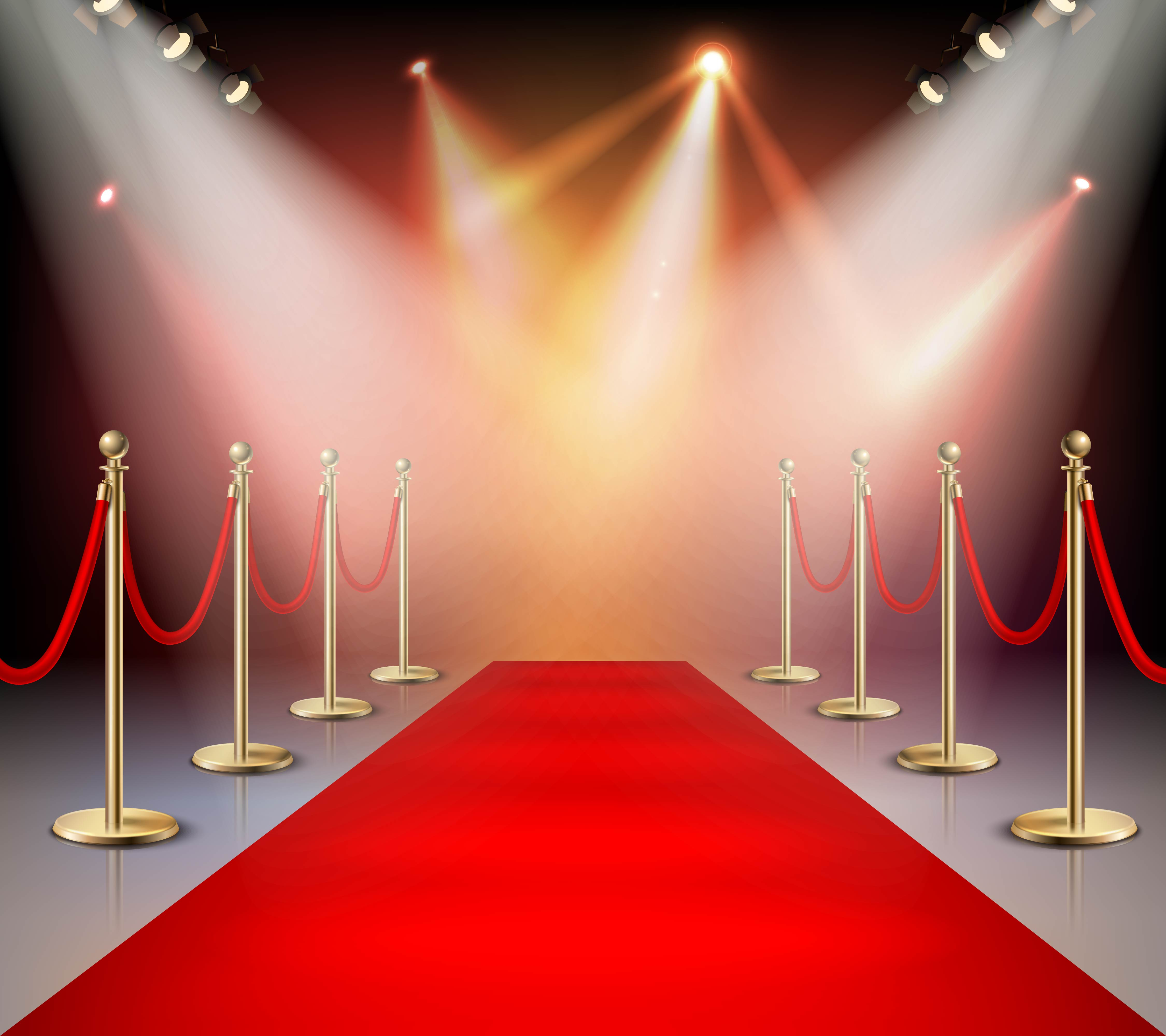 Red Carpet In Illumination Composition Download Free