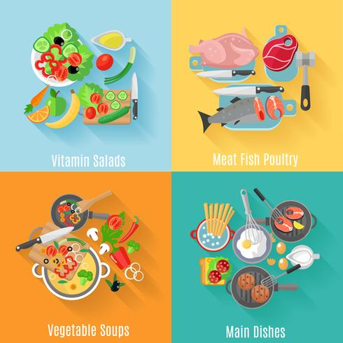 Home cooking banners vector