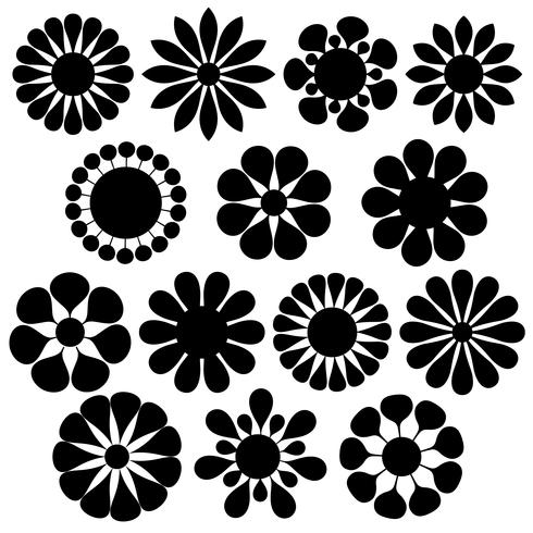 Fiori Vettoriali.Forme Semplici Di Fiori Vettoriali Scarica Immagini Vettoriali