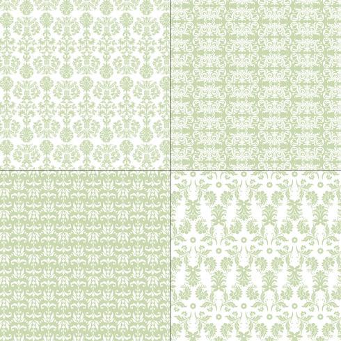 Pastellgrüne und weiße Damastmuster