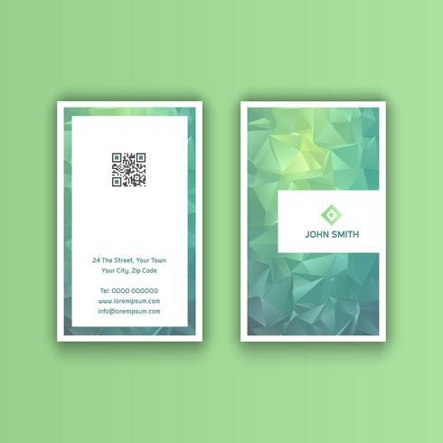 Visitkort med låg poly design vektor