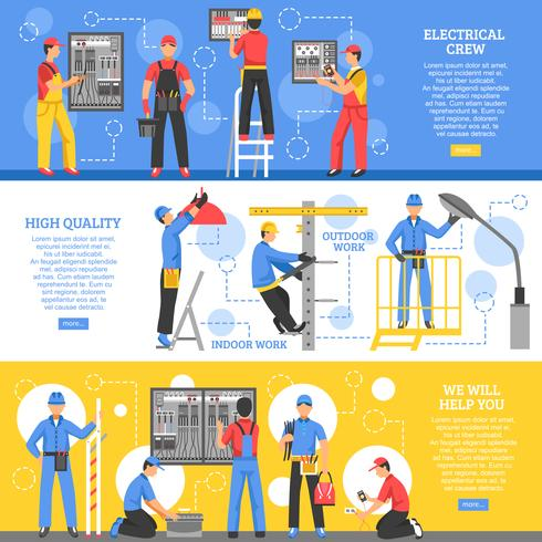 Electrical Works Horizontal Banners
