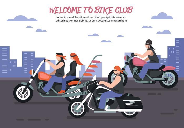 Fundo de clube de motociclista