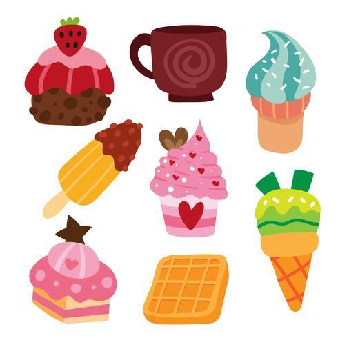 dessert vector collection design