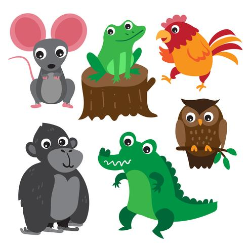 djur karaktär vektor design