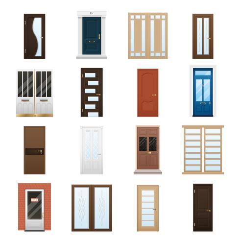Set di porte per la casa