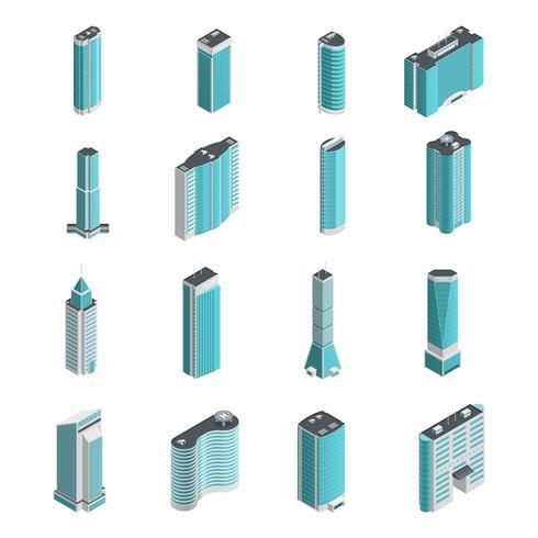 Modern isometriskt byggnad