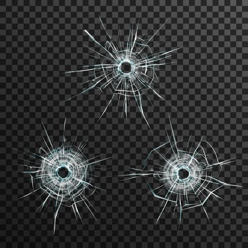 Plantilla de agujeros de bala