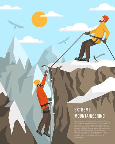 Illustration d'alpinisme extrême vecteur