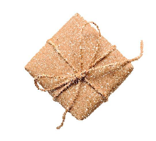 Vector l'illustrazione dell'icona del contenitore di regalo, il pittogramma di stile del punto, simbolo attuale isolato su fondo bianco
