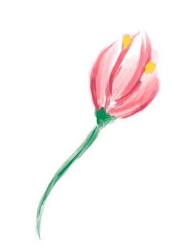 Leuke lente aquarel Vector bloem. Kunst geïsoleerd object voor huwelijksboeket