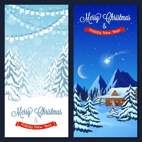 Winter Landscape Vertical Banners